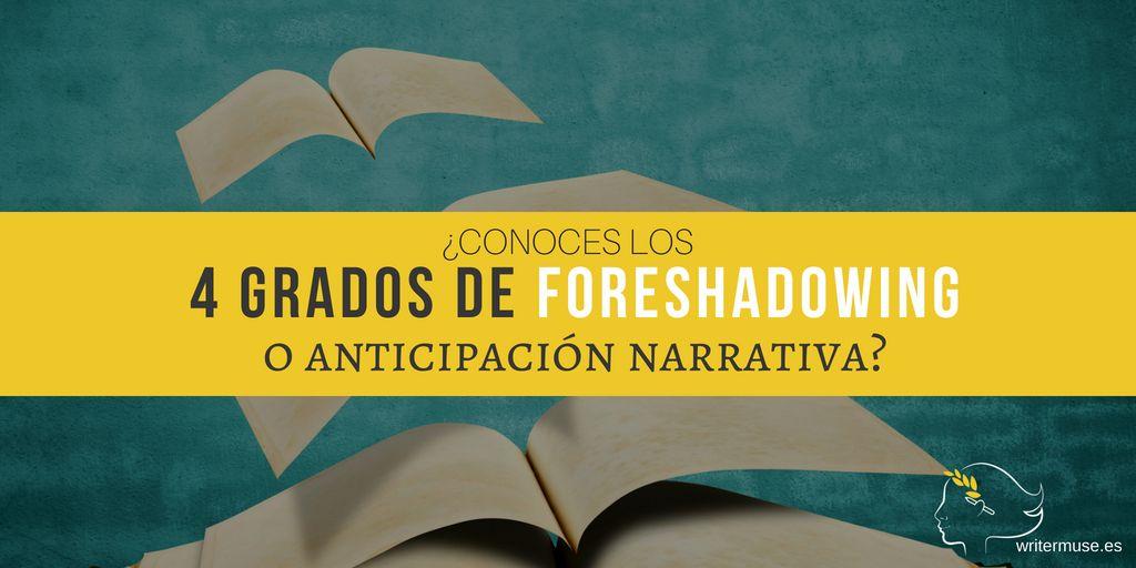 Los 4 grados de foreshadowing o anticipación narrativa - WriterMuse